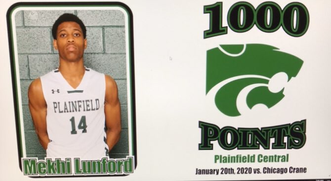 Congratulations to Mekhi Lunford on scoring his 1,000 career point this week in our game vs Chicago Crane. We are proud of you! @Mekkhii_<br>http://pic.twitter.com/JxUfuB9I80