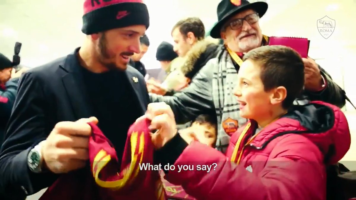 Meet the young Roma fan who almost gave his granddad a heart attack...