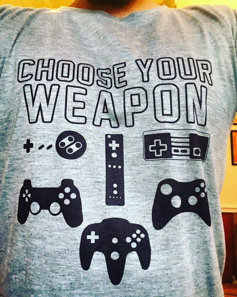 Today's uniform #Retro #retrogamer #RETROGAMING #nintendo #playstation #xbox #fortheplayers #popculture #gamer #geekpic.twitter.com/HWf67xFeuf
