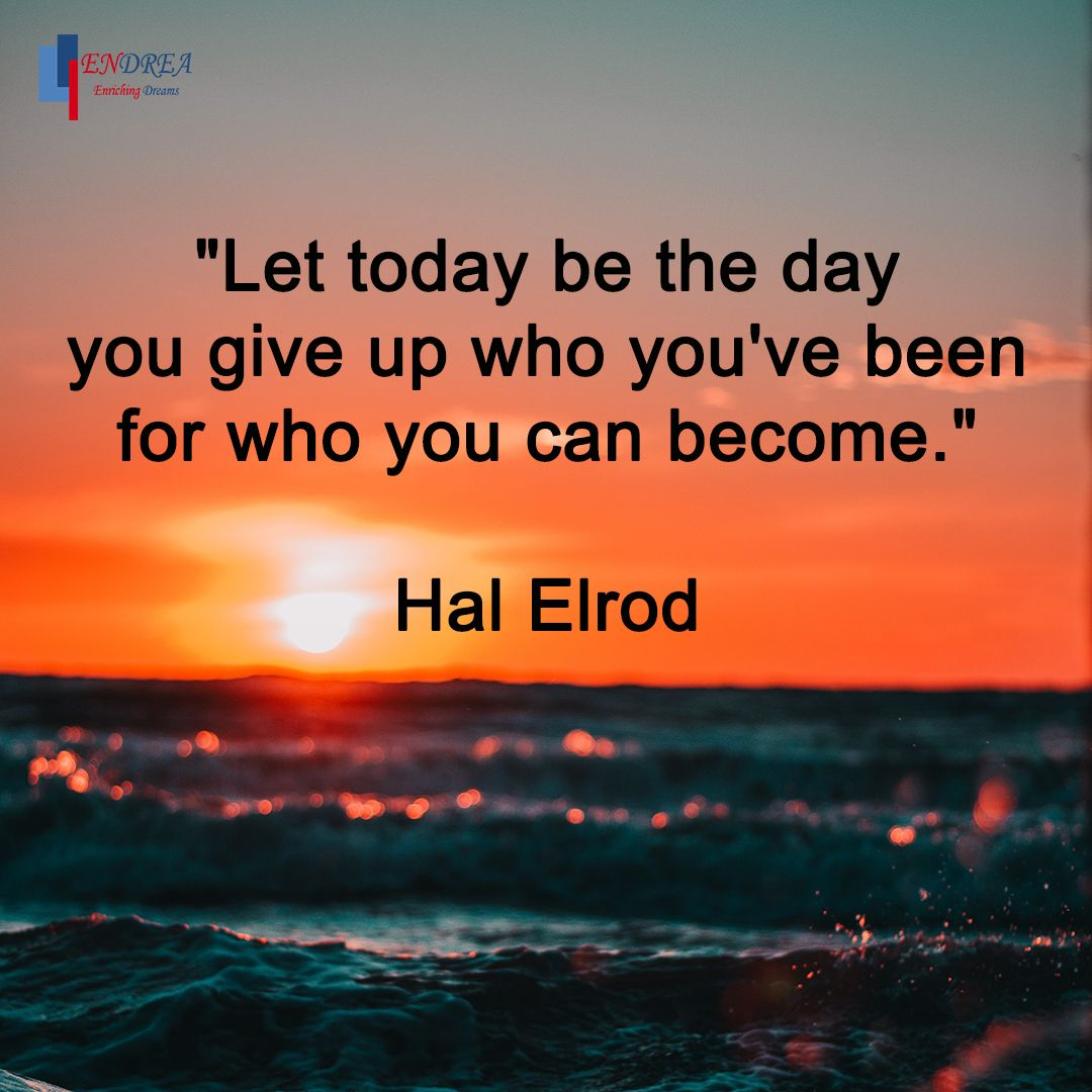 """Let today be the day you give up who you've been for who you can become."" Hal Elrod #entrepreneur #entrepreneurship #endrea #endreatips #endreamethod #entrepeneurlife #business #businessplan #businessstrategy #businessstrategist #businessdevelopment #bizdev #growth #growthhackerpic.twitter.com/5EL3EWSo1v"