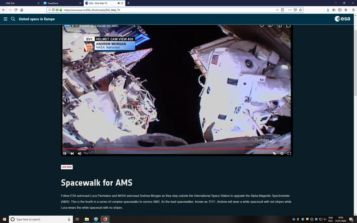 #SpacewalkForAMS
