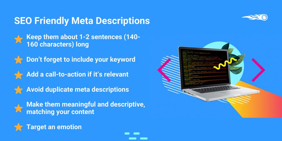Learn everything about Meta Descriptions:❓What is it?❓Why are they important?❓How to improve your meta descriptions?❓How to implement them?And more! Check out our quick guide ➡️http://bit.ly/2sJSEZr