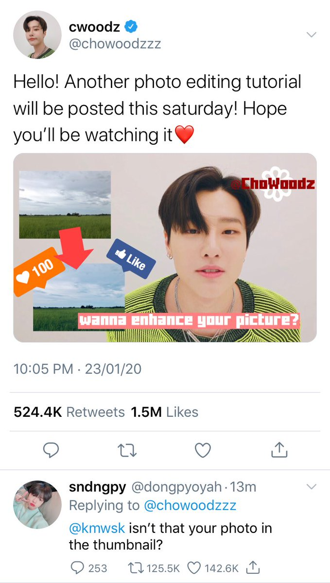 seungseok au in which the most popular vlogger, Cho Woodz, unintentionally used Kim Wooseok's, the Photographer of the Year, pictures for his vlog's content <br>http://pic.twitter.com/n0jROrdext