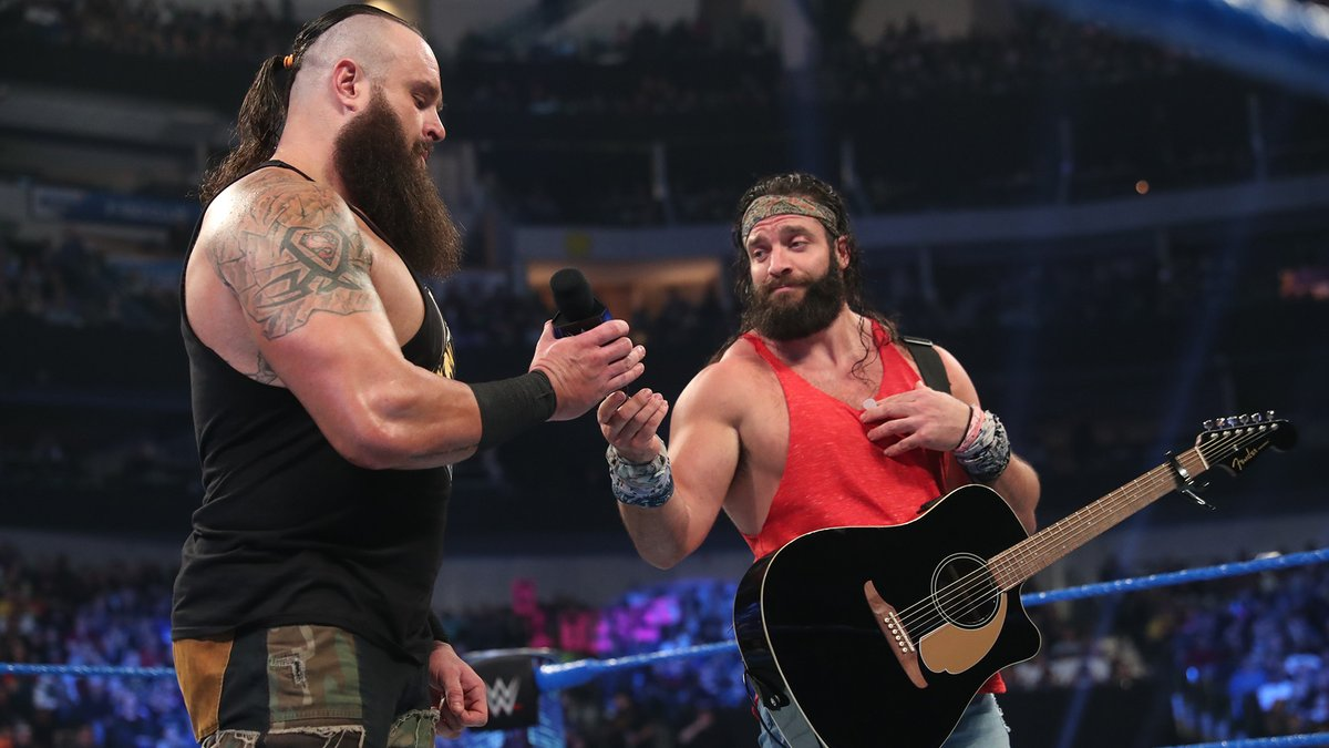 Ok, you sold us, @BraunStrowman & @IAmEliasWWE. We got a teaser, now we NEED an EP. #SmackDown