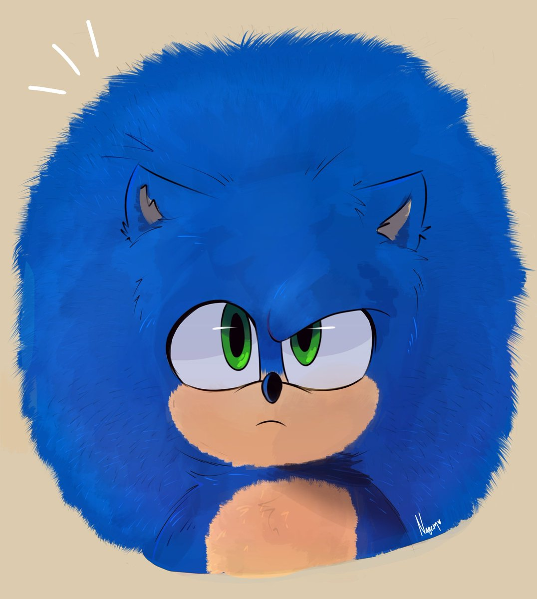 Fluffy Sonic is really cute! I want to hug him 💙