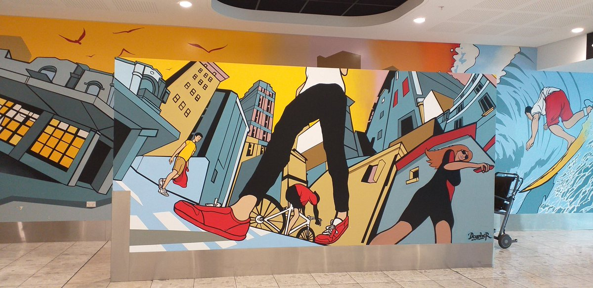 Dcypher's artwork at Christchurch Airport. <br>http://pic.twitter.com/hmXC8h1be8