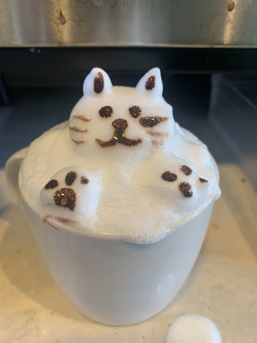 I made a foam kitty