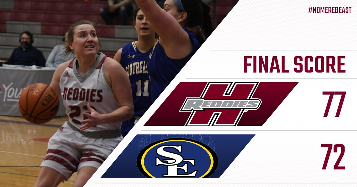 THE REDDIES STAY UNBEATEN AT HOME!  HSU takes down No. 16 SOSU 77-72 in a thriller at the Duke Wells Center!  We move to 13-5 overall and 8-4 in GAC play!  Whaley - 16 points Estes - 15 points, 16 rebounds  Great win, ladies!  #NoMereBeast