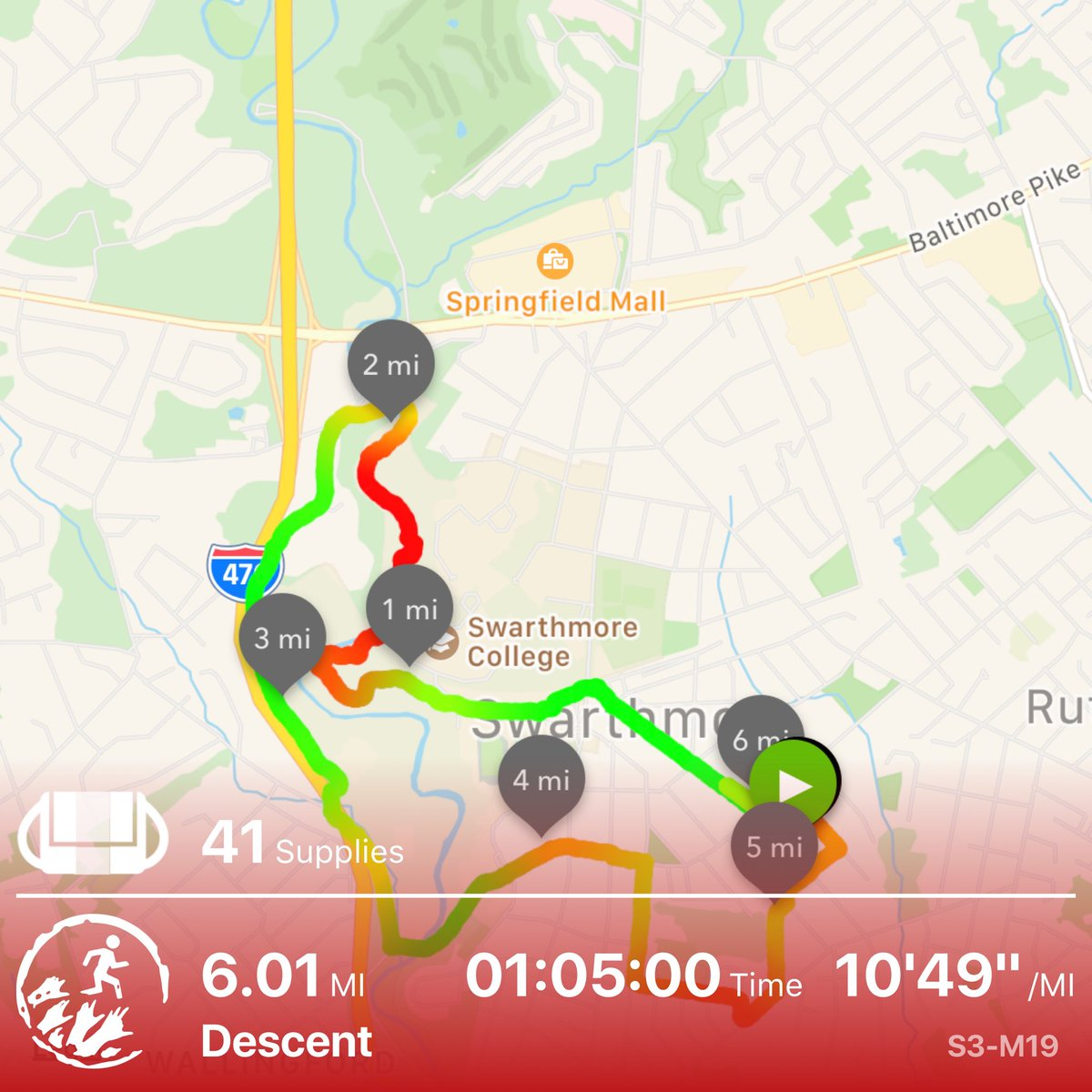 Made a dramatic escape from the zoms surrounding the treetop base #zombiesrun pic.twitter.com/zKDINGhKyS