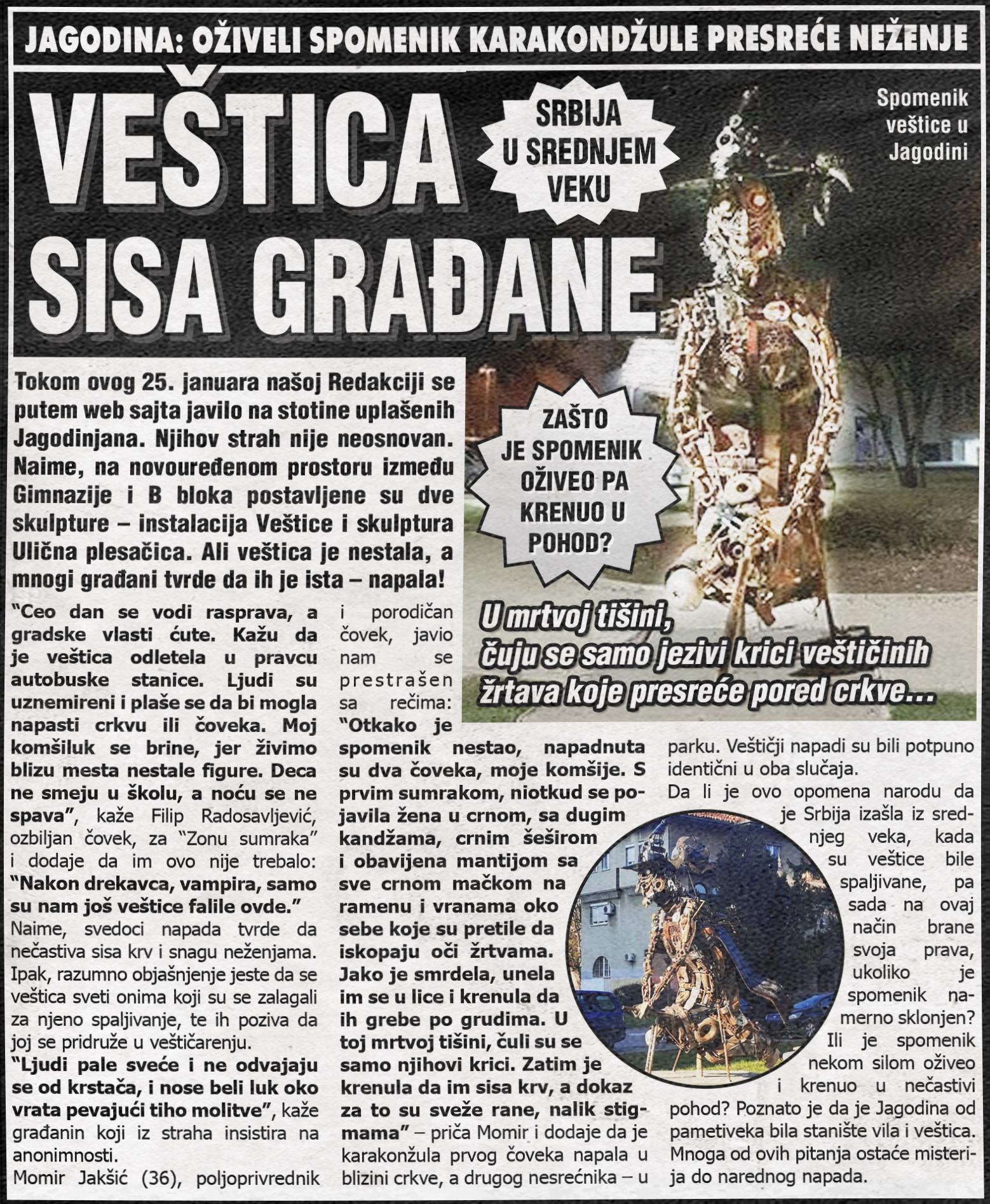 Srbija u srednjem veku: Veštica sisa građane!!!