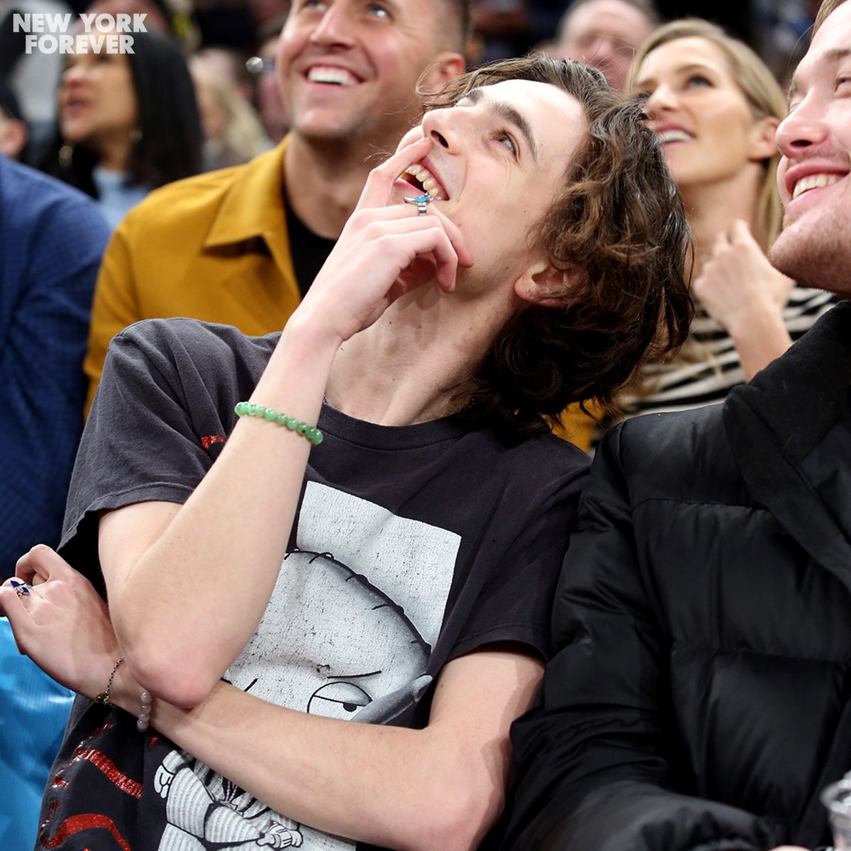 Thanks for coming out last night, @RealChalamet 👋