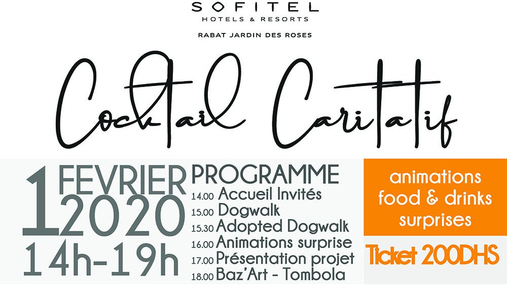 Do not miss next Saturday in Rabat. Charity event for 222 stray dogs now in sanctuary.