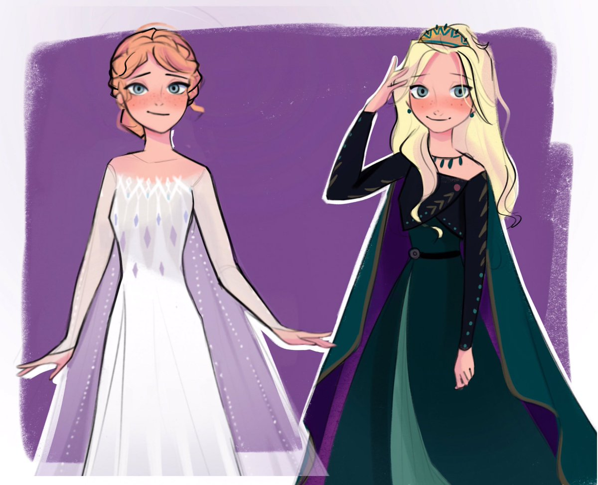 What if they swapped epilogue outfits? #Frozen2  #Elsa  #anna <br>http://pic.twitter.com/2wVUAjsWJH