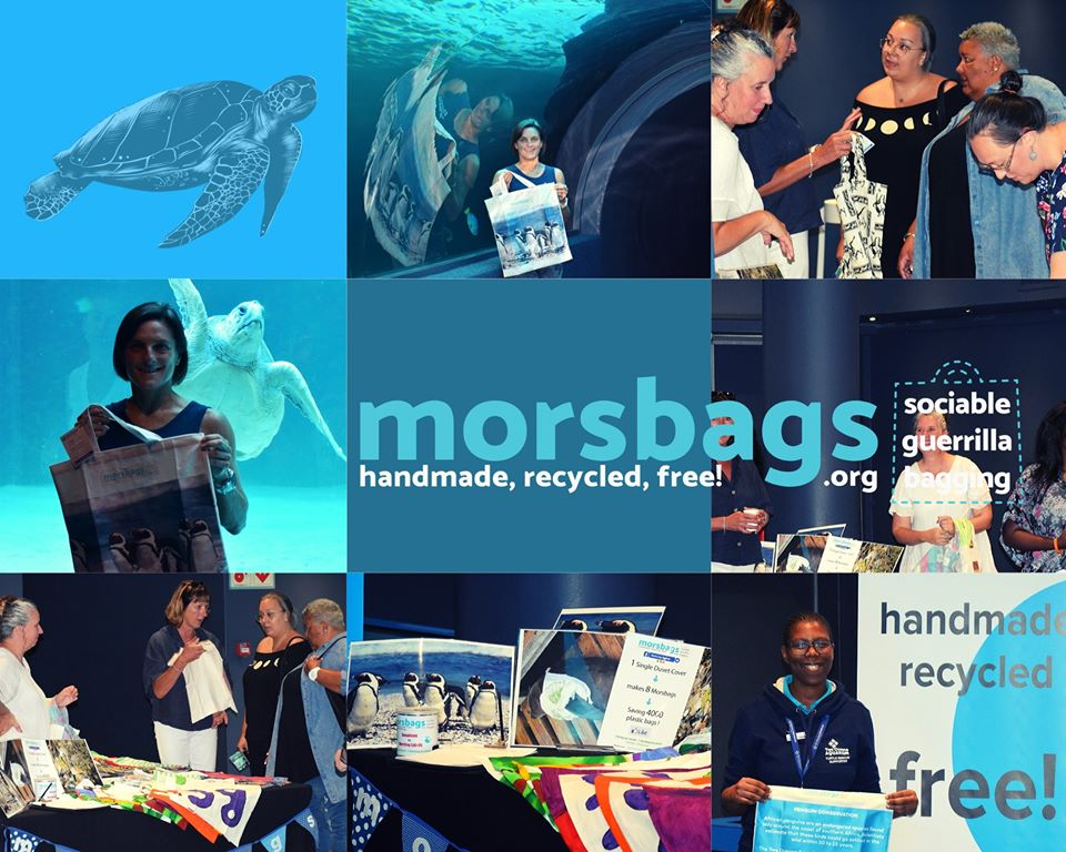 Tx #WesternCapeMorsbags 4SUCH a worthwhile&totally enjoyable day, gifting gorgeous, unique&FREE material shopping bags 2 guests @2OceansAquarium The value of yr volunteer work is truly immeasurable. I'm thrilled with this meaningful give-away! #RethinkTheBag #NoMorePlasticBags