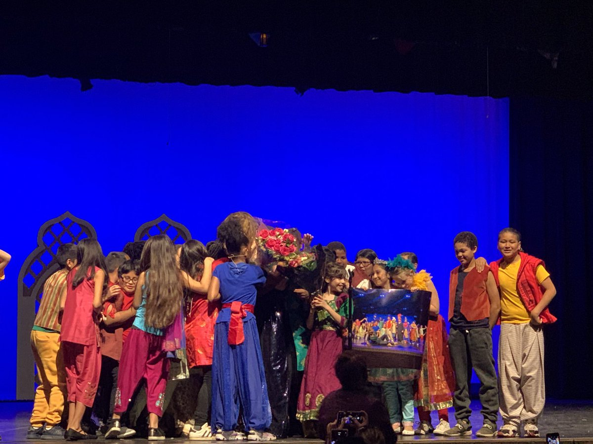 We did it. Man I'm proud of these kids and the joyful work they put in to make Aladdin KIDS happen.