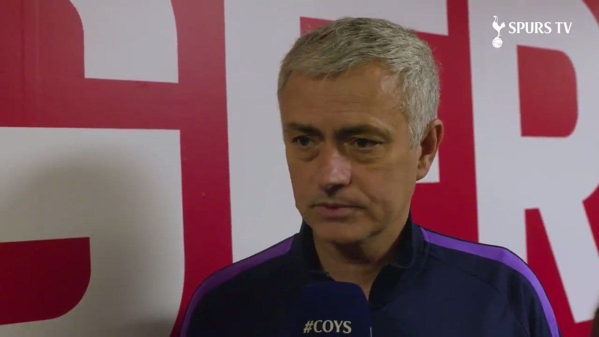 """""""It's not a drama for us. It's not good that we have to play another match, but let's go again at home."""" 📺 Jose's reaction to this afternoon's draw at St Mary's. #THFC ⚪️#COYS"""