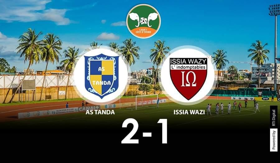 Football | 14ème journée #Ligue1Civ #AsTanda s'impose 2-1 face à #IssiaWazi  #RTISPORT