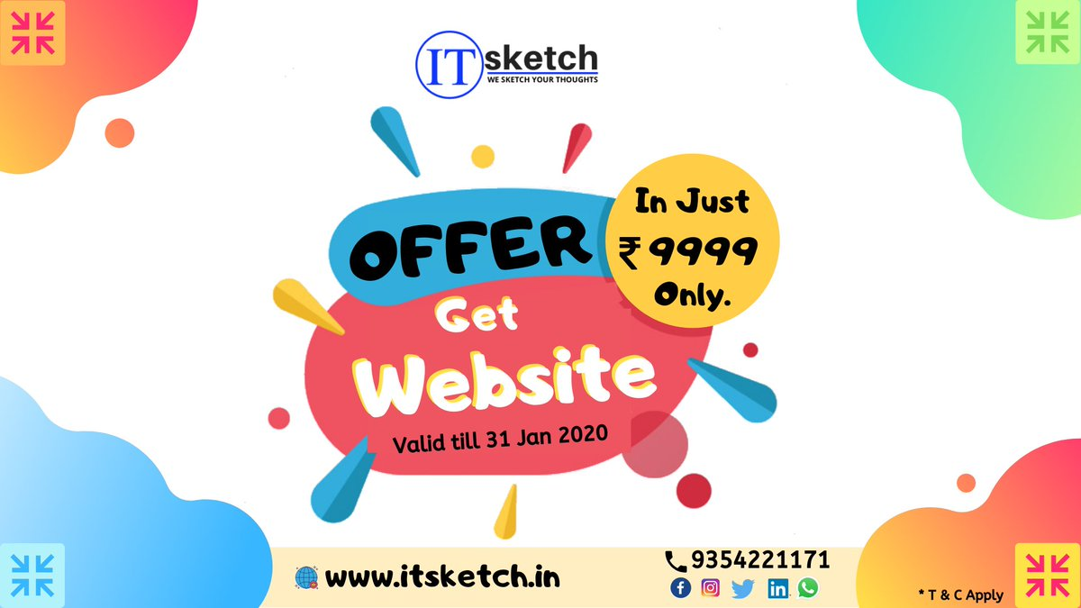 Hurry! Get your business a Website @ ₹ 9,999 only. #itsketch #WebsiteDesign <br>http://pic.twitter.com/SgszOtPDVf