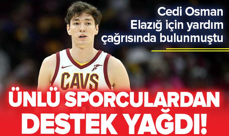 Cedi Osman Elazığ için yardım çağrısında bulunmuştu! Ünlü sporculardan destek yağdı https://t.co/PVbYWPfYgR https://t.co/npFt4wbel3