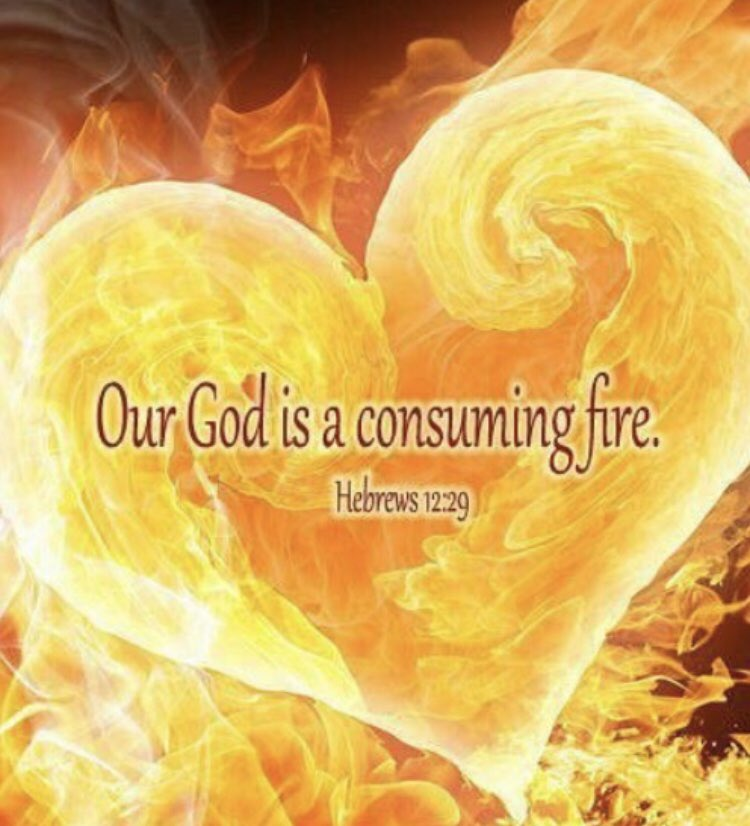 God is a consuming fire & His Kingdom is unshakeable.  Therefore, since we are receiving an unshakable kingdom, let us be filled with gratitude, and so worship God acceptably with reverence & awe. For our God is a consuming fire. Hebrews 12:28-29 #AlmightyGod #WorshipGod <br>http://pic.twitter.com/9ixTOtPlcU