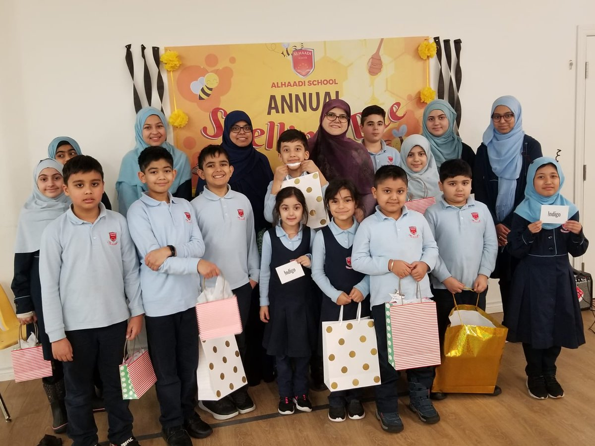 Congrats to our awesome Spelling Bee winners! Each and every child who stood before the judges and made an effort is a winner for us. Soooo many of our students impressed us by their abilities and we're so very proud all of them #spellingbee #alhaadischool #islamicschool #torontopic.twitter.com/EH4tXLnYVf