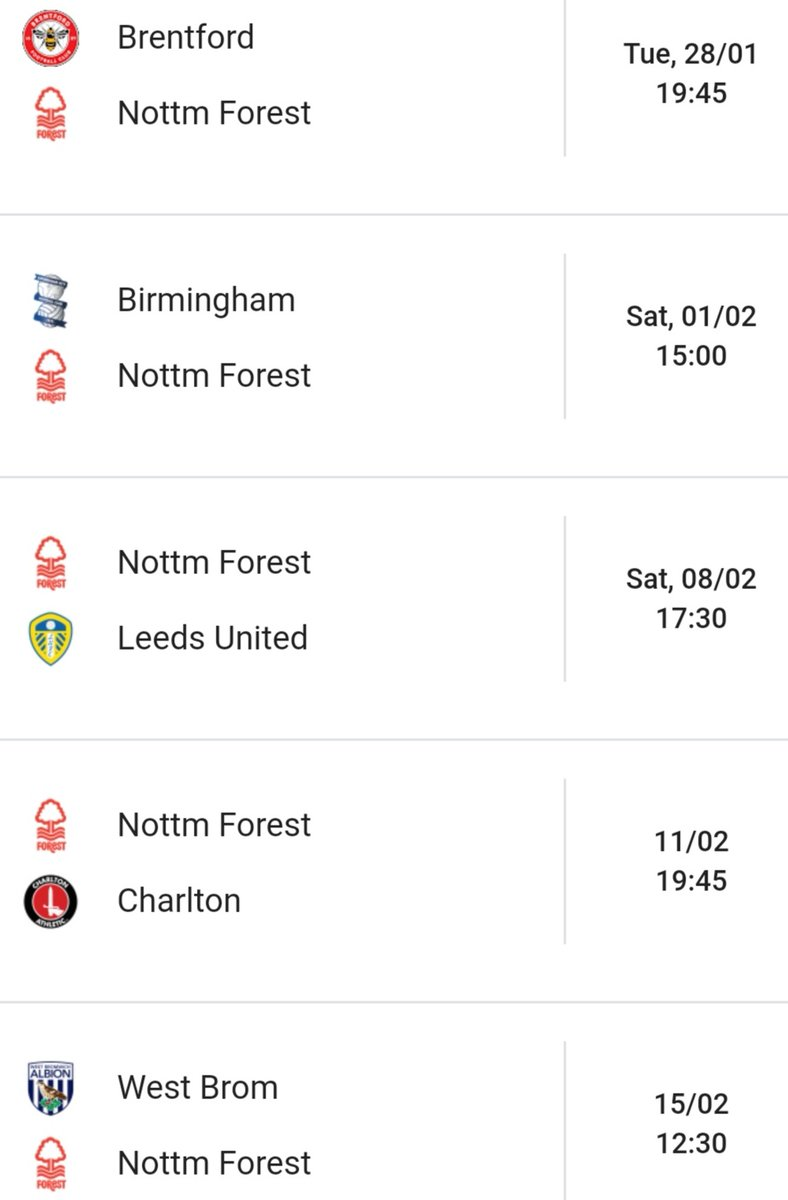 Another result going Forest way today with Stoke beating Swansea   The next 5 games are huge and could quite easily make or break our season  Score predictions for the next 5?!   #NFFC #Forest @NFFC RT once predicted <br>http://pic.twitter.com/tgKAdKhiW3