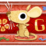 Image for the Tweet beginning: Happy Lunar New Year!  Today's #GoogleDoodle