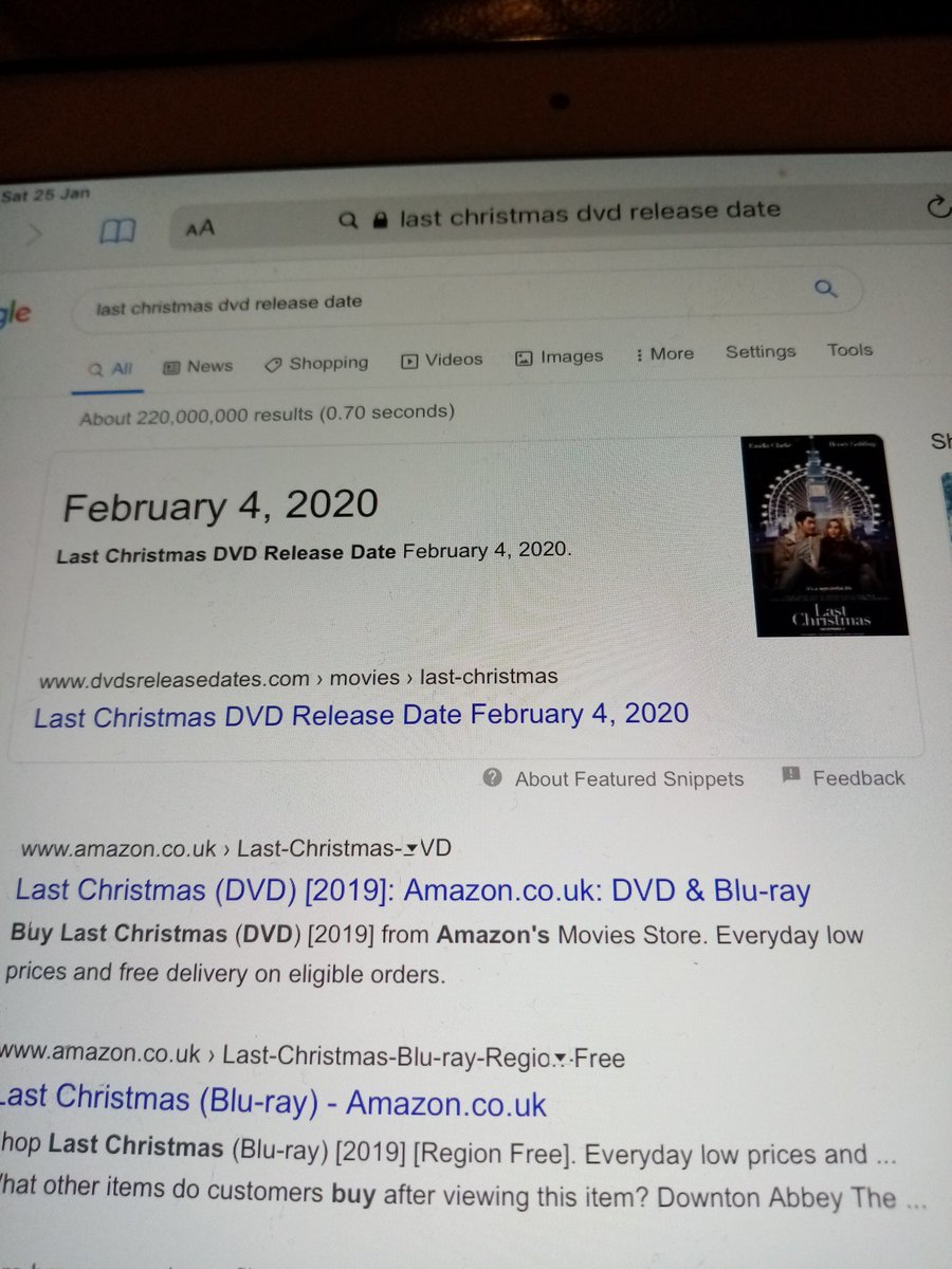 Yay finally find a date for it #lastchristmasmovie dvd https://t.co/56puCt9kNz