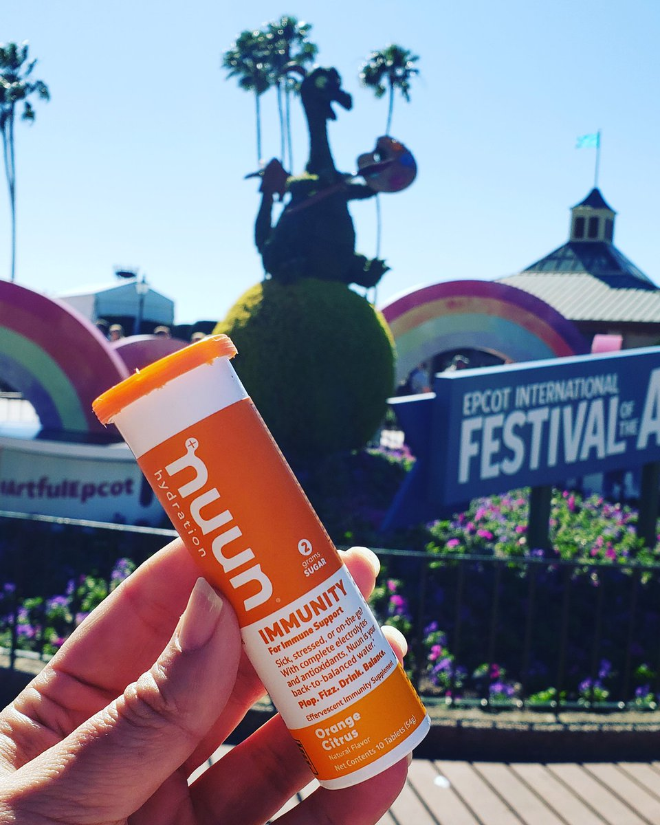 Disney vacations mean a lot of walking, being around a lot of people, and water in need of flavor enhancement. Having @nuunhydration immunity tabs in my bag have been a game changer! #nuun #nuunlife #nuunlove <br>http://pic.twitter.com/l5a5hKdeue