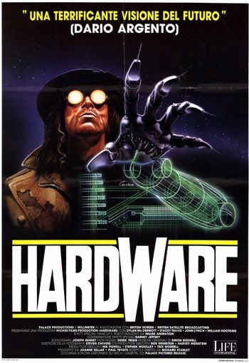 Tonight 9:20pm: A healthy dose of future noir with the viseral sci-fi horror cult classic HARDWARE (1990) in super rare #35mm at @TexasTheatre in Dallas! About as cool as it gets for film making of this era, it even features cameos from Iggy Pop and Lemmy. #cultcinema #scifipic.twitter.com/ZGh2A0bU72