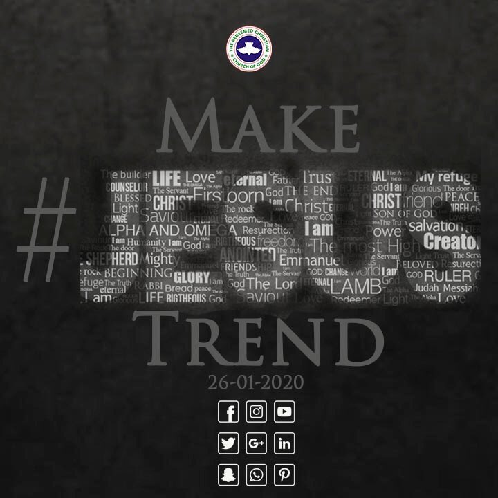 What has #Jesus done for you? Let's make #Jesus trend