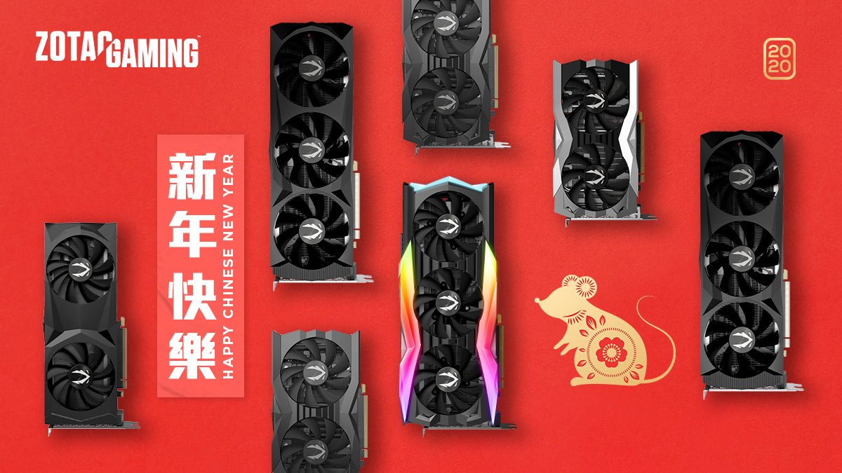 May the Year of the Rat bring you prosperity, good luck and good fortune!   Happy #ChineseNewYear from ZOTAC! #ZOTAC #ZOTACGaming #RTX #RTXOn #Gaming #PCGaming #PCGamer #PC #PCMR #LiveToGame #RGB #GraphicsCard #PCHardware  #ChineseNewYear2020 #HappyChineseNewYearpic.twitter.com/sRUTFOV8Ql