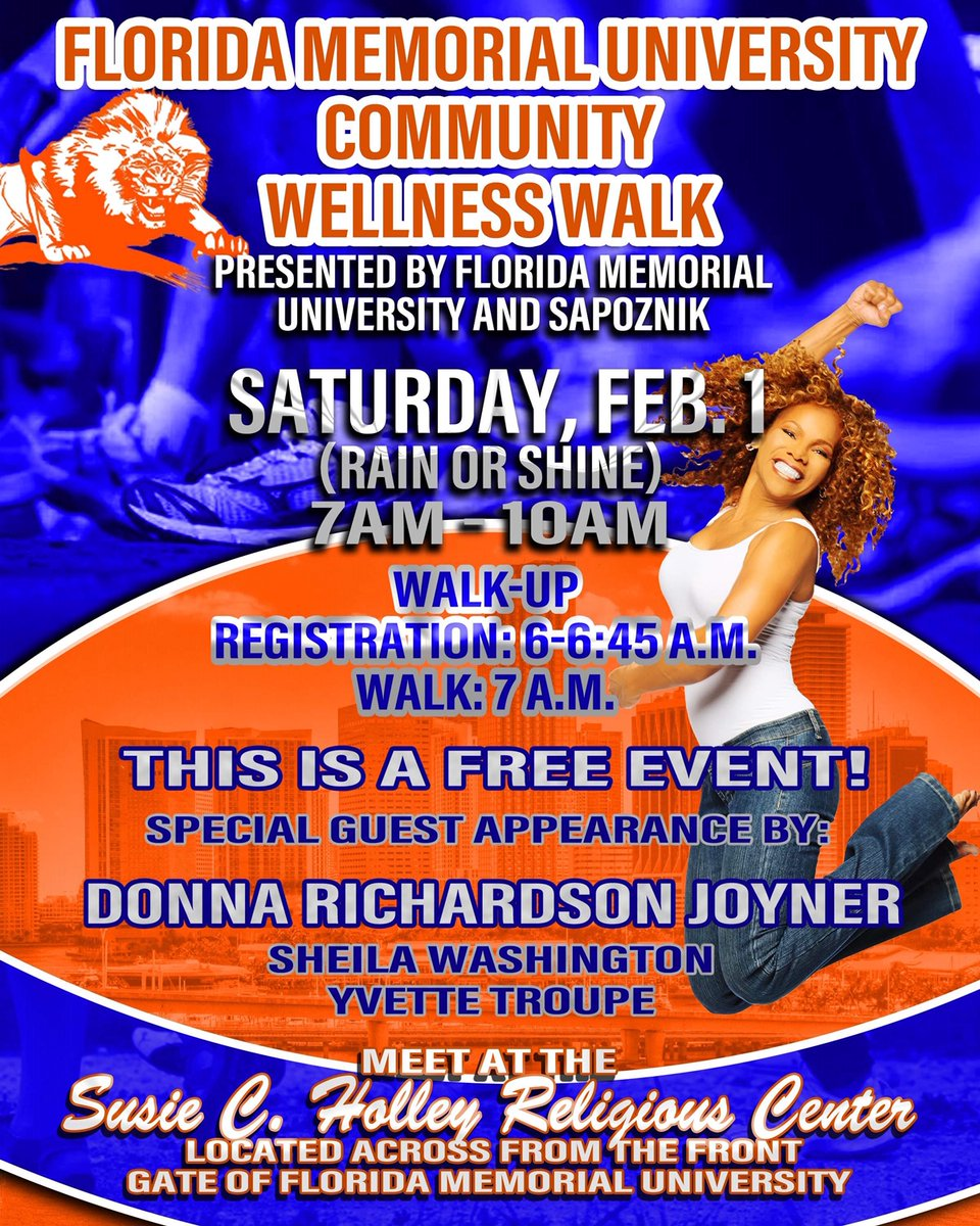 Come & walk with us next Saturday and meet Donna Richardson Joyner @iamdonnamite! pic.twitter.com/CmelZBwoMN