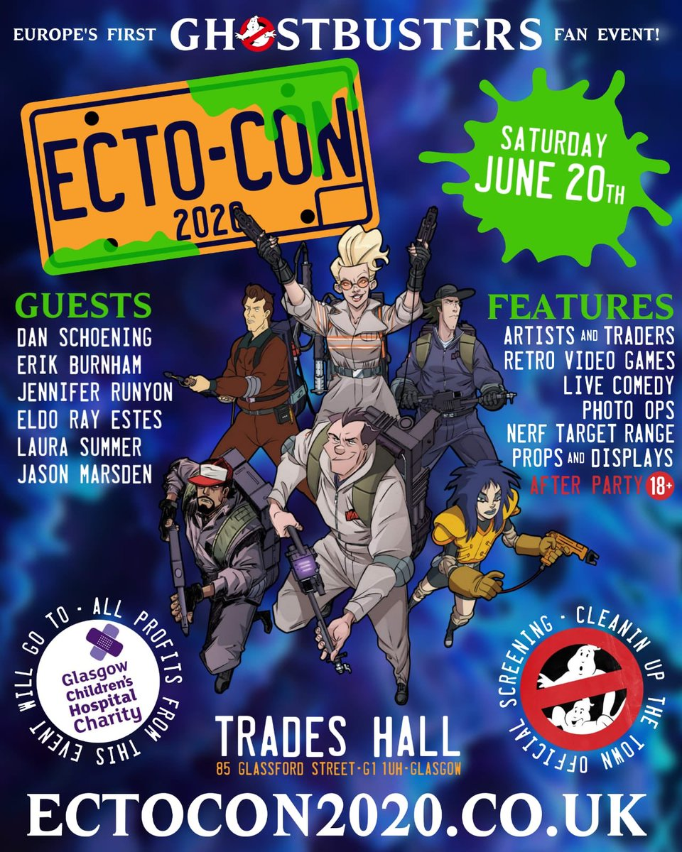 96 general entry/Holtzmann tickets left! Grab yours now at ectocon2020.co.uk & help us raise funds for @GCH_Charity! #scotland #glasgow #comiccon #GhostbustersAfterlife #ghostbusters