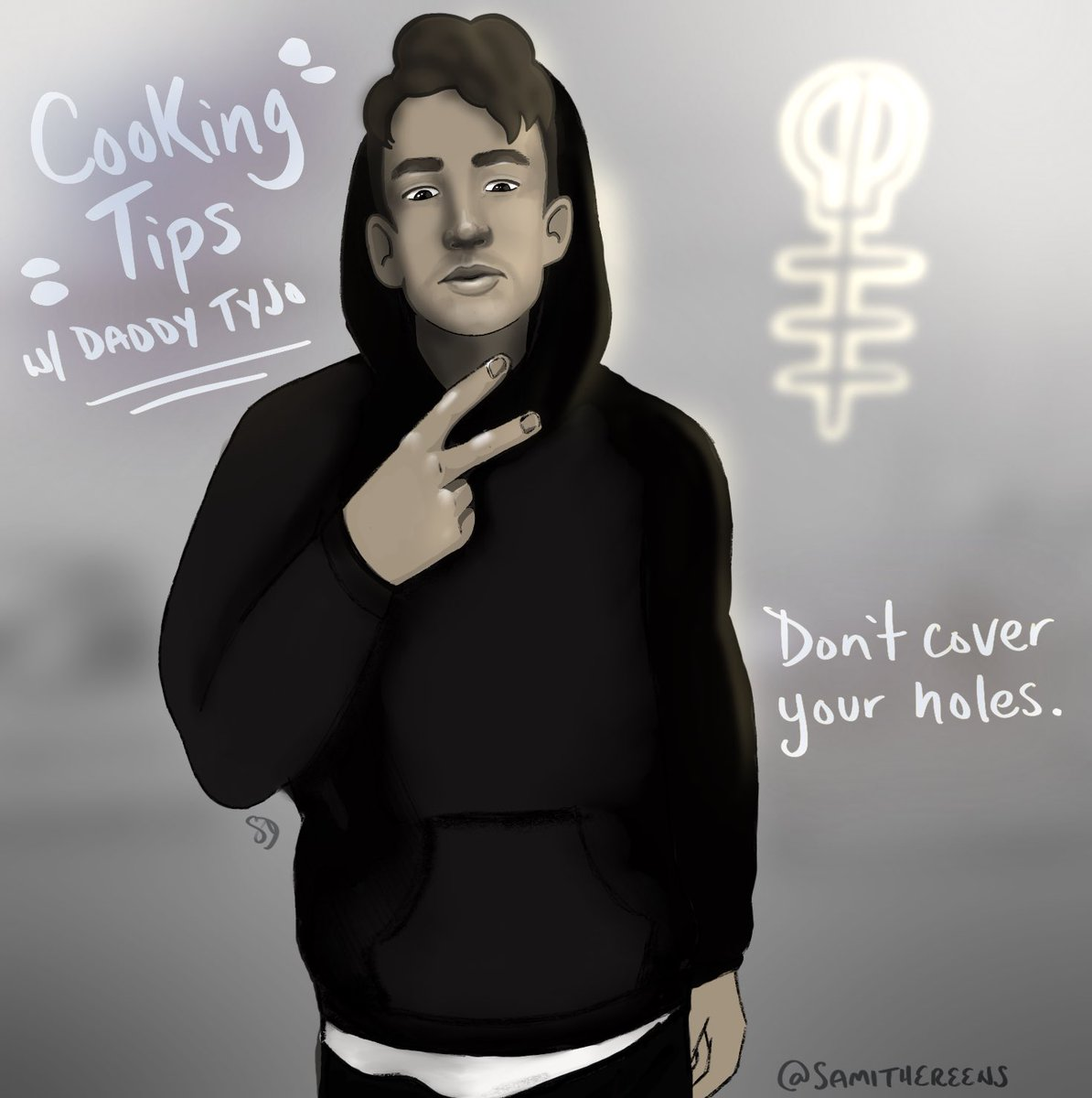 #cliqueart ft. @tylerrjoseph and his sage advice on mixing in the beats kitchen. Stay warm w a hoodie, but don't cover your ears, or it'll sound too bright. <br>http://pic.twitter.com/RzWXKbz01C