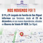 Image for the Tweet beginning: Juzgados de Familia de San