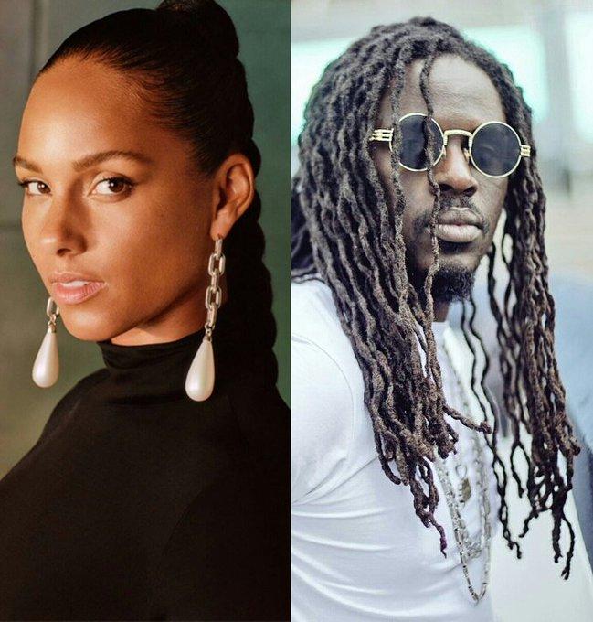 Supreme.G wished Alicia Keys a happy birthday