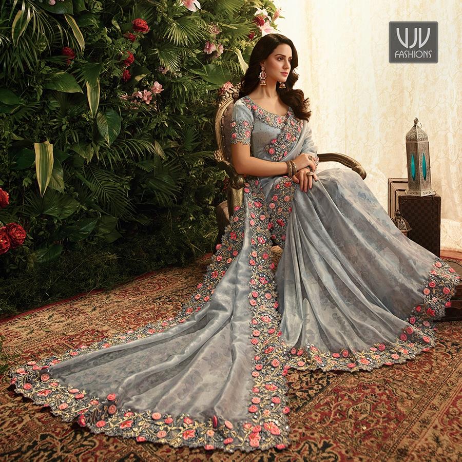 Buy Now @ http://bit.ly/VJV-SULA5802 . Fabulous Grey Color Organza Designer Classic Saree . Fabric - Organza . Product No   VJV-SULA5802 . #saree #sarees #designersaree #weddingsaree #bridalsaree #netsaree #ethnicsaree #partywearsaree #embrioderysaree #weddingwearsareepic.twitter.com/xvUVukgdgg