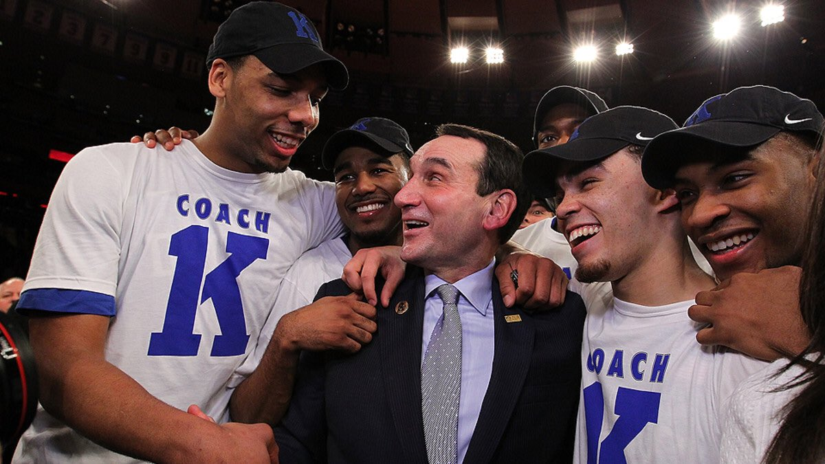 On this date 5 years ago, Mike Krzyzewski won his 1,000th career game.   GOAT. 🐐😈