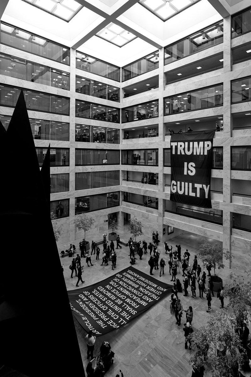 Protestors are at Senate every single day, finishing week three today. Follow @Remove_TrumpNow !