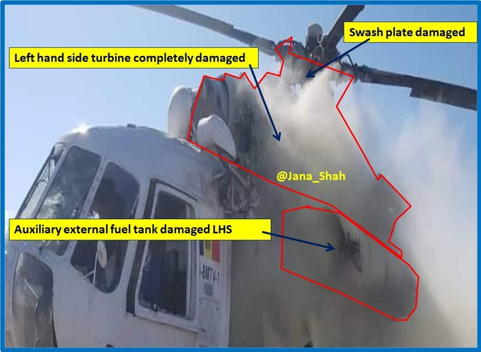 #Afghan #Taliban claim of hitting Mil Heli carrying #ANDSF troops in #Helmand yesterday confirmed Mi-8MTV-1/Moldova/NATO Mi-8MTV R versions of  Mi-17 wid more powerful turboshafts&Port-side tail rotor All Mi-8/Mi-17Series in Russian Mil service R known as Mi-8s of Various subtyps<br>http://pic.twitter.com/VvtR1qeWMu