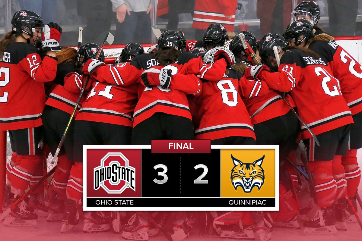 That's game!! The Buckeyes complete the non-conference sweep against Quinnipiac #GoBucks <br>http://pic.twitter.com/wysZLmKDf7