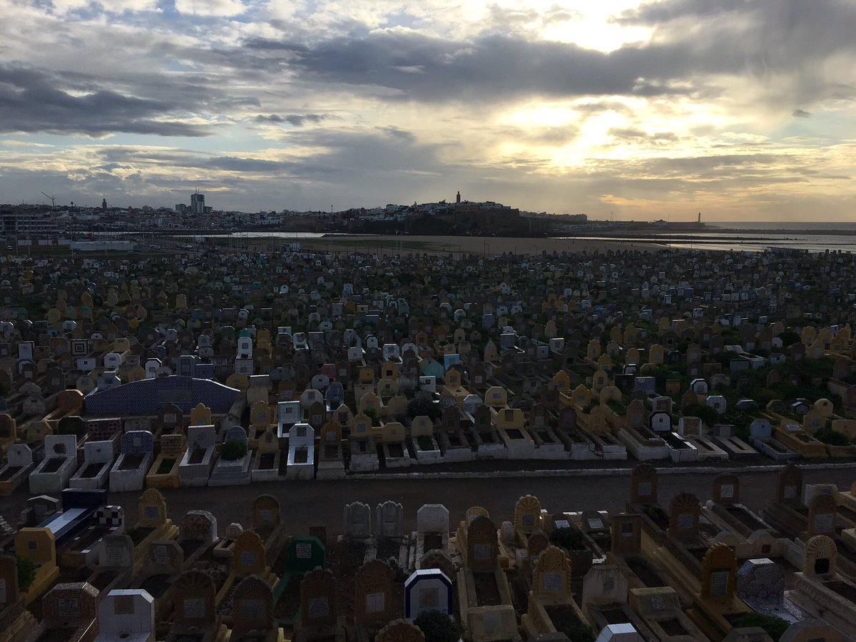 Rabat, looking over the cemetery and estuary, from sister City, Sale.......Morocco.