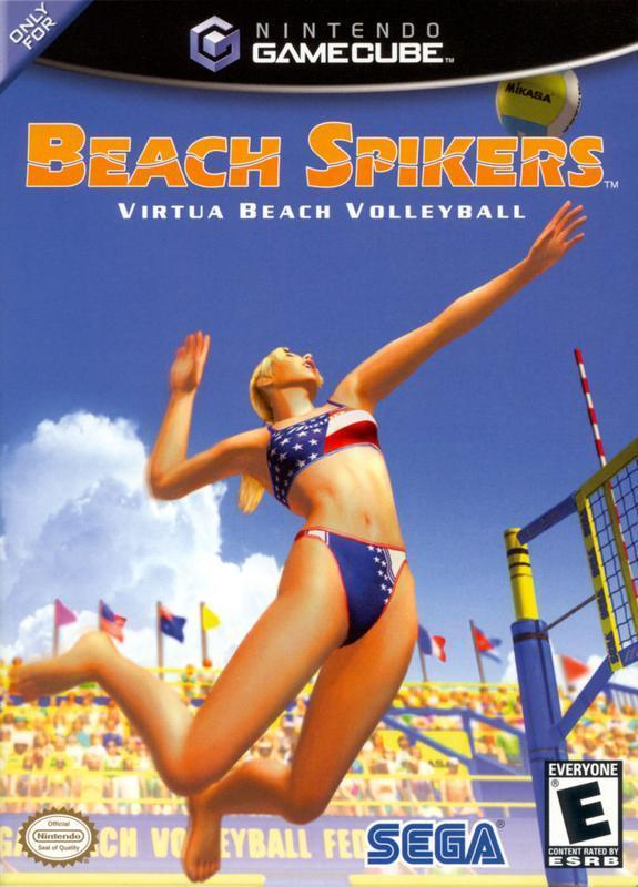 SPIKE THE COMPETITION INTO DUST while playing beach volleyball in Beach Spikers  #gaming #retrogaming #nintendogamecube #gamers #beach