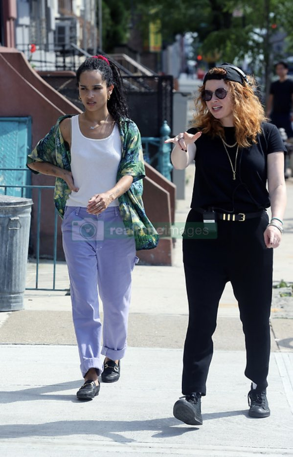 the cultural impact of these pictures of zoë kravitz and natasha lyonne on the set of high fidelity (2020) is completely unparalleled