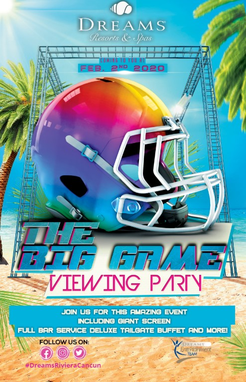 🏈 Enjoy the best viewing party in town to watch the #BigGame this February 2nd! Joins for a #Tailgate style buffet, giant screen and more!  See the Sundial or the Unlimited Connectivity app to learn about our activity program!  #KickOff