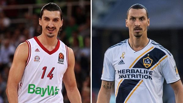"""Un journaliste a demandé au basketteur Bosnien Nihad Dedovic s'il était de la famille d'Ibrahimovic vu sa ressemblance avec le Suédois. Dedovic a répondu : """"Non, mon père n'a jamais été en Suède"""".  Ibrahimovic lui a répondu : """"Mais mon père a déjà été en Bosnie"""" 😂😂 https://t.co/Bn5UjNDDyK"""