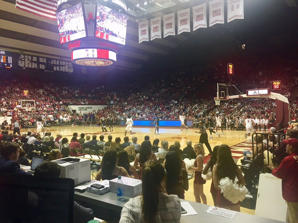 Another good crowd at Coleman Coliseum for Alabama vs Kansas State @wvua23 #Big12SECpic.twitter.com/OfjKBlIR96