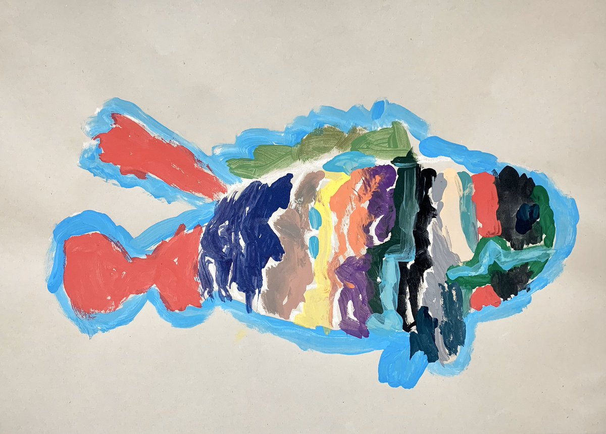 Kindergarten animal paintings. @LakeAnneES #laes2020 #elementaryart #Kindergarten #kidsart #arteducationpic.twitter.com/BlMo1xlAVL