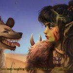 Image for the Tweet beginning: The orc hunter and their